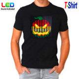 T-shirt sain rougeoyant de la barre DEL
