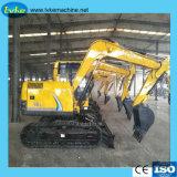 Venta caliente fábrica miniexcavadora de Ruedas hidráulicas de 8,5 toneladas/excavadora de cadenas