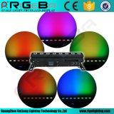 8PCS*8wrgbw 4in1 최신 판매를 위한 무선 건전지 LED 벽 세탁기 빛