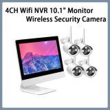 """4CH WiFi сетевой видеорегистратор 10,1"""" мониторинг сетевой безопасности беспроводной сети система камеры CCTV комплекты"""