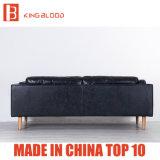 Mobília moderna do sofá da HOME do couro genuíno da grão da parte superior de Brown do estilo de América