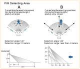 Sensor de movimento IP65 Sensor PIR PIR exterior 10W/20W/30W/50W Holofote LED Holofotes de LED de 3 anos de garantia