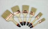 Белый комплект щетки краски щетинки с деревянной ручкой