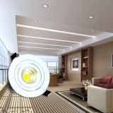 Taiwán Epistar ajustable Chip COB Ronda 12W Downlight LED