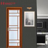 Puerta de aluminio doble del marco de Galzed para el cuarto de baño