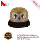 O animal das crianças do bordado do painel 3D da forma 6 ostenta o chapéu do Snapback do inverno dos miúdos