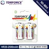 batterie inférieure rechargeable de la Chine Fatory d'hydrure en métal de nickel de la décharge spontanée 1.2V (HR6-AA 2200mAh)