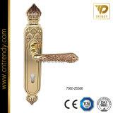 Maniglia di lusso della serratura di portello di stile classico sulla piastra di appoggio (7055-Z6358)