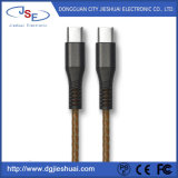 Mikro-USB, zum C TPE/PVC Injection+PU des ledernen Kabels mit 5V 2.4A zu schreiben