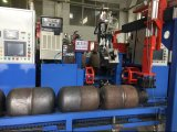 Circunferencial de soldadora automática con brazos mecánicos
