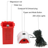 Pas besoin de batterie de l'eau Mg-Saline Xmas Chaîne de lumière à LED