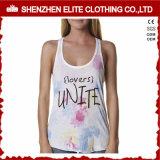 Nahtloses Baumwollspandex-Sublimation-GroßhandelsTrägershirt für Frau (ELTWBJ-125)