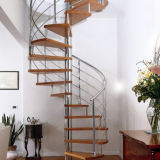 PVC手すりの螺線形階段が付いている屋内シンプルな設計のステアケース