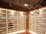 Винный погреб погреб Deco использовал алюминиевой стеллаж для выставки товаров вина шкафа вина шпенька установленный стеной
