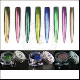 Aurora-Regenbogen-Einhorn-Chrom-Spiegel-Pigment-Perlen-Nixe-Puder für Nägel