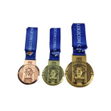 Sports médaille en plaqué or en métal avec logo 3D personnalisés