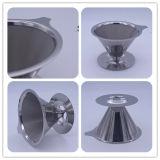 3サイズの再使用可能なVのタイプコーヒーのフィルターのステンレス鋼フィルター