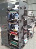 Machine d'impression de Flexo avec 2 découpant avec des matrices et 1 couvrant