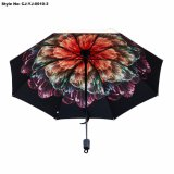 Corsa calda di piegatura di vendita aperta ed ombrello di plastica vicino della maniglia delle 3 volte