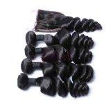 Het Braziliaanse Losse Haar van de Golf bundelt Natuurlijk Zwart Maagdelijk Haar