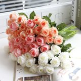 Reale Noten-Kunstseide-rote Rosen Wholesale