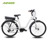 2017 Nuevo diseño potente Ebike Aimos 700c de la unidad MEDIA Bicicleta eléctrica