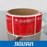 À prova de rolo impresso medicina química etiqueta adesiva