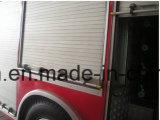 문 롤 셔터가 알루미늄 화재 싸움 트럭에 의하여 위로 구른다