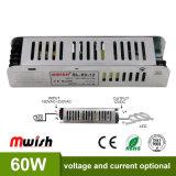 30W-60W 12VD 5A AC/DC Indoor Driver de LED à courant constant de long avec ce cas RoHS