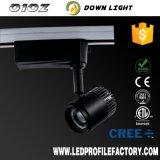 Proyector ligero colgante del precio LED de la pista, iluminación ajustable LED del punto de la pista de la cocina