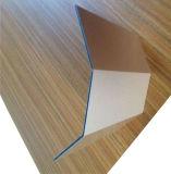 Revêtement polyester intérieur 4 mm décoration murale en bois panneau composite en aluminium