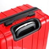 Klassisches Film-Gepäck des Entwurfs-ABS+PC, China-roter reisender Koffer (XHP089)