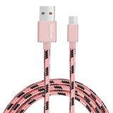 câble usb micro de câble usb à grande vitesse tressé en nylon du téléphone 2A pour le mobile androïde