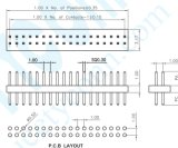 pH: 1.0mmの二重列Pinヘッダのコネクターまっすぐな様式Pinヘッダ