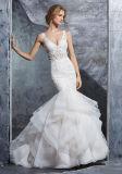 V-шее устраивающих свадьбу платье Русалки кружева Organza свадебные платья S8224