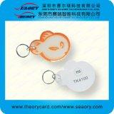 RFID epóxi fora do cartão de PVC plástico pequeno
