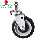 Pp.-mittlere Aufgaben-Fußrolle, Laufkatze-Fußrolle mit seitlicher Bremse