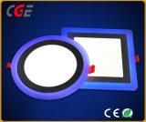 Luz de tecto LED cor dupla ronda a luz do painel de LED rebaixada para a sala de reunião