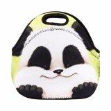 Sac isolé thermique de déjeuner du néoprène de panda mignon pour l'emballage de Lunchbags de gosses de femmes avec le sac à main de cadre de déjeuner de refroidisseur de tirette