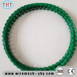 녹색 PVC 색칠 면도칼 날카로운 철 철사