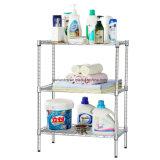 Rack de baño de metal epoxi ajustable / Rack de esquina con ruedas (CJ-C1037E)
