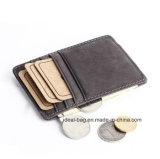 Raccoglitore poco costoso personalizzato della borsa della moneta del supporto di scheda di prezzi, clip di cuoio Promtoion dei soldi