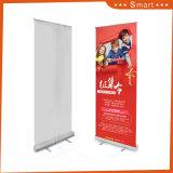 De aluminio de alta calidad Tamaño de Banner Roll up, el movimiento de Banner Roll up Stand modelo 18