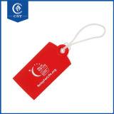 製造業者の耐久の物質的な卸売はロゴのシリコーンの名札をカスタマイズする