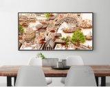 Pintura moderna da decoração da paisagem com frame da madeira contínua