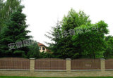 Dekorativer Zaun-hölzerne Plastikzusammensetzung WPC für Garten