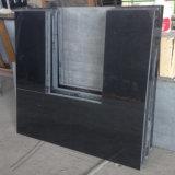 Lareira preta da chaminé do granito e painel traseiro com preço o mais atrasado