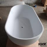 Tina de baño derecha libre de la piedra artificial de Kingkonree
