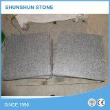 Natural flammé en granit noir l'étape de la pierre pour les revêtements de sol
