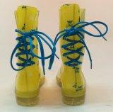Ботинки дождя PVC женщины прозрачные, ботинки дождя, прозрачные ботинки печатание